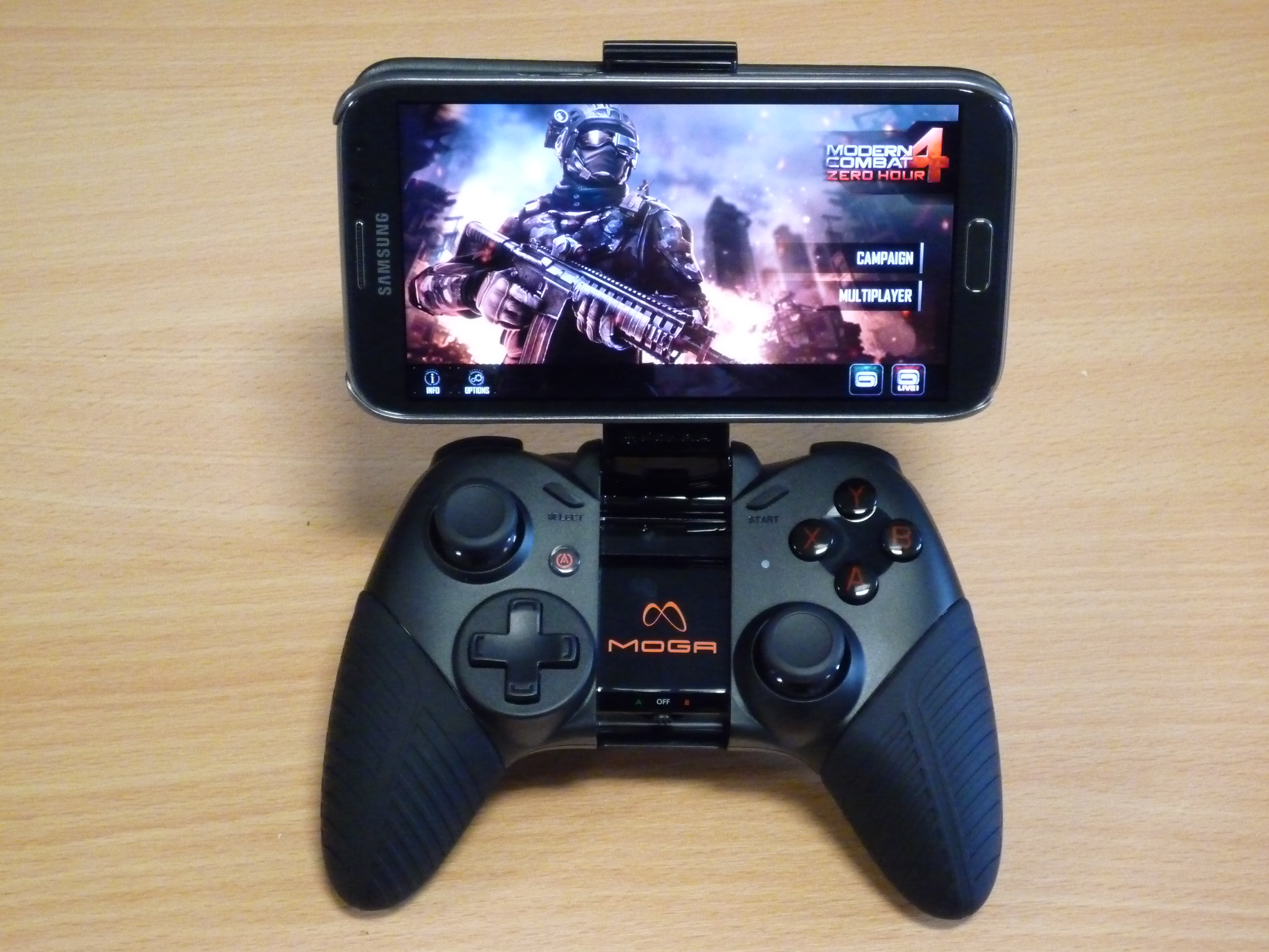 Moga Pro with Galaxy Note 2