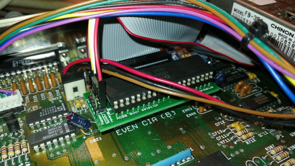 Boot Selector Installed in Even CIA Socket