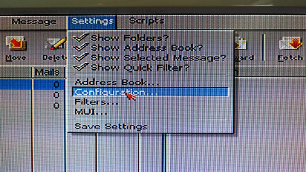 access IMAP email on an Amiga