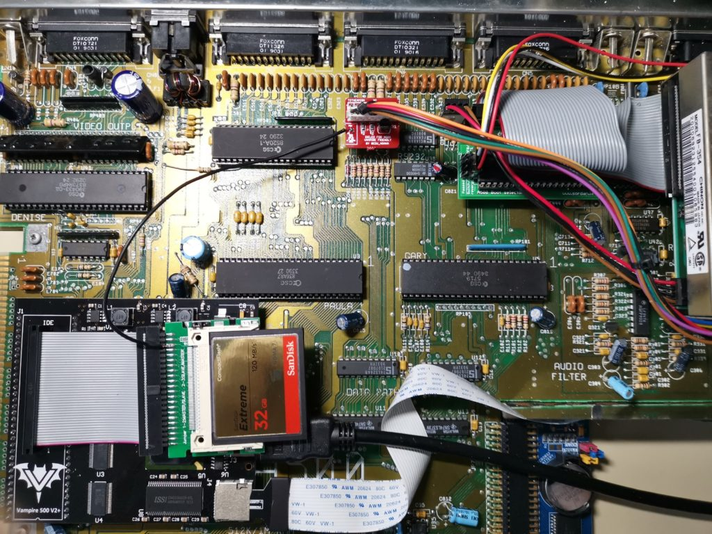 Amiga 500 IDE activity LED fitted