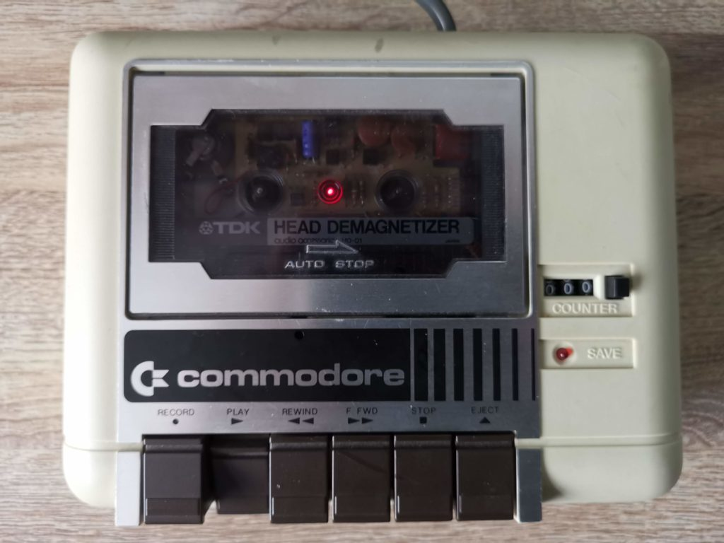 Commodore C2N - Demagnetising Tape head