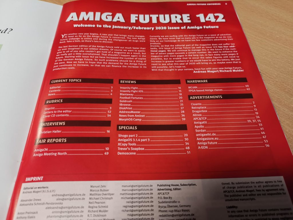 Amiga Future #142 Index