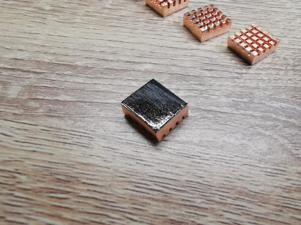 Heatsink with thermal tape applied