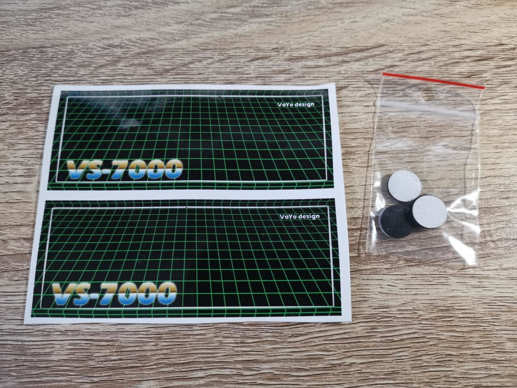 VS-7000 Stickers and Rubber feet