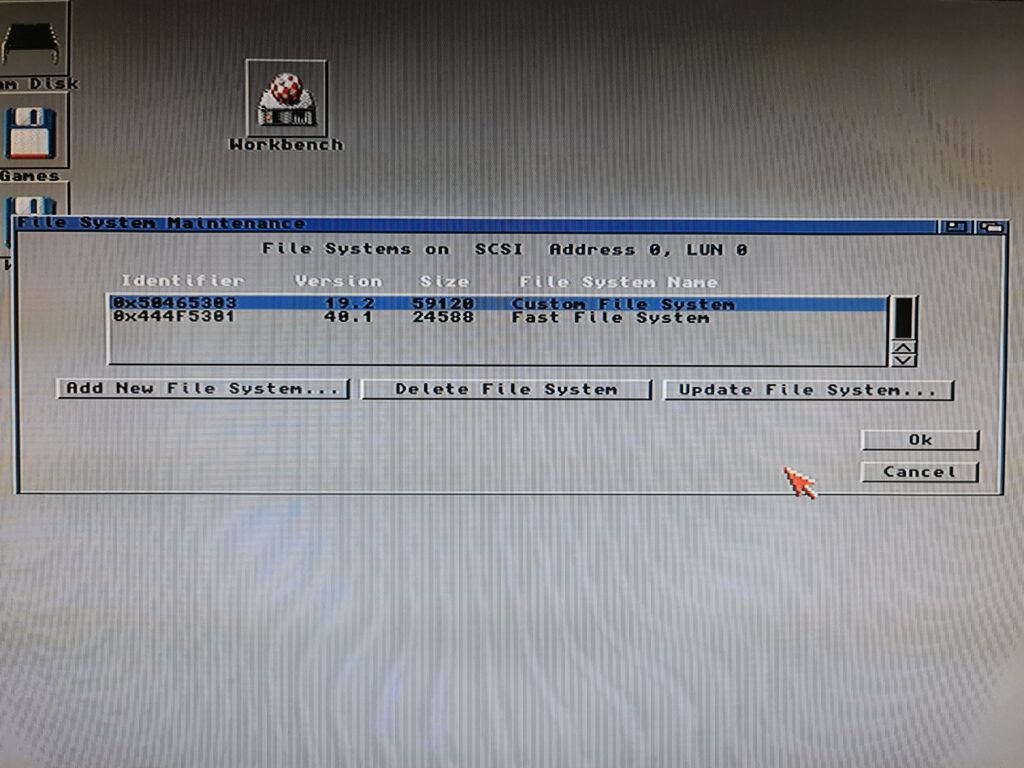 Amiga File System Maintenance Window