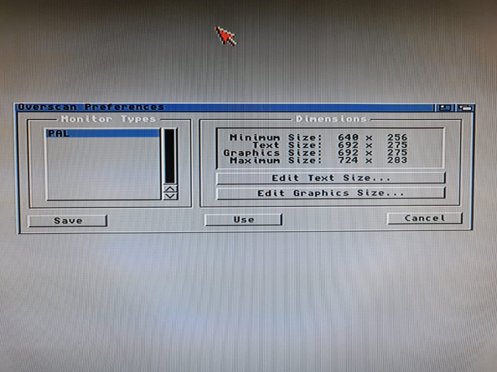 Amiga Overscan Preferences