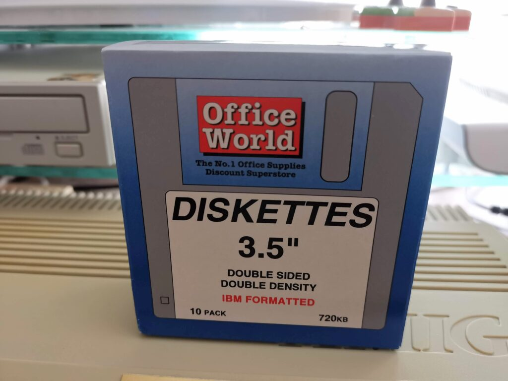 "Box of Blank 3.5"" Floppy Disks"