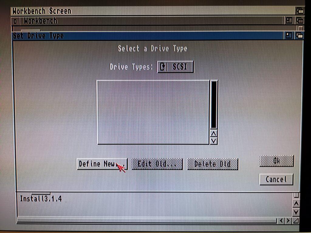 Amiga HDToolBox - Selecting a Drive