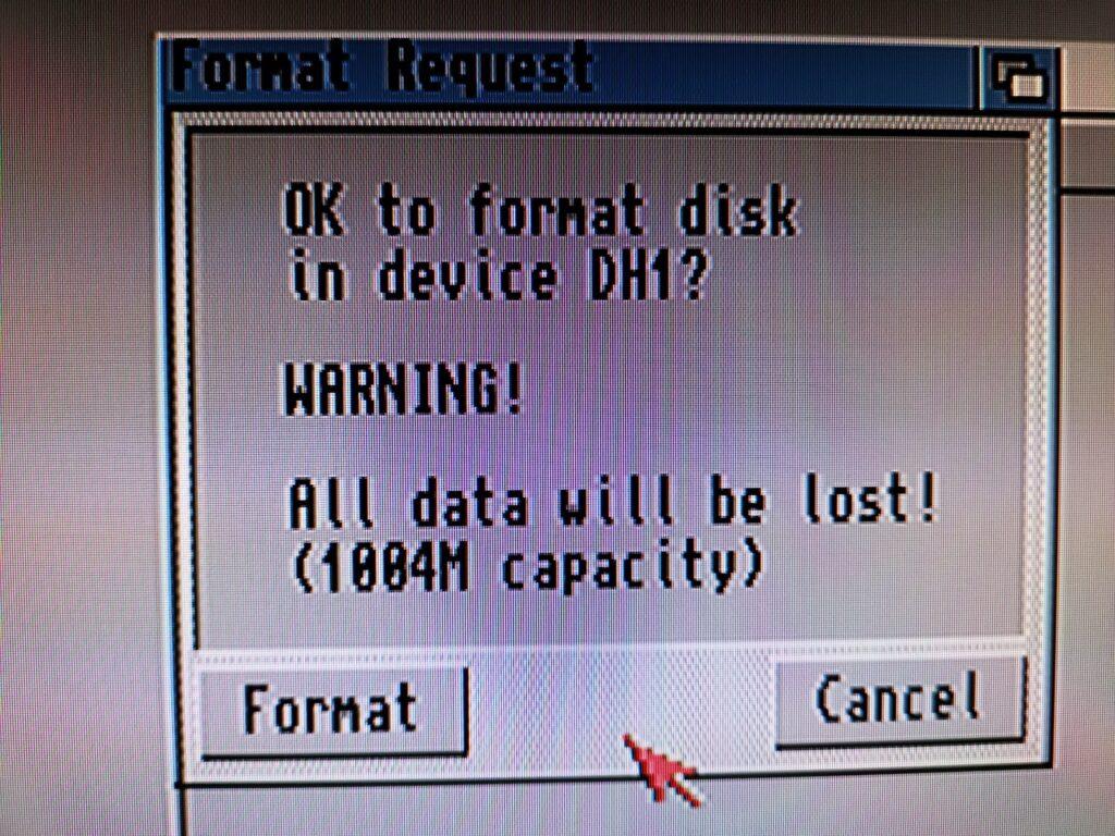Disk Format Warning