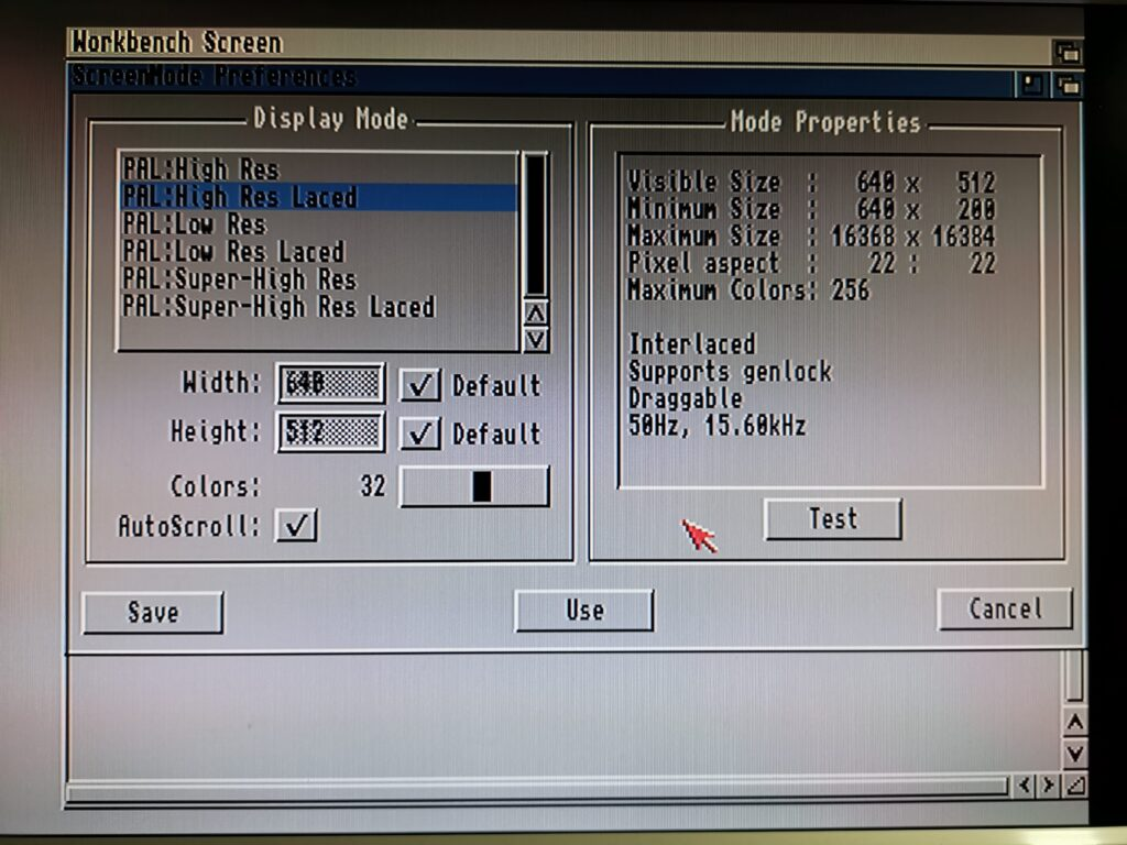 Amiga Screen mode