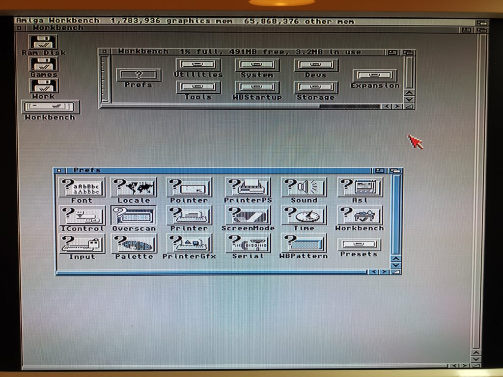 Amiga workbench screen