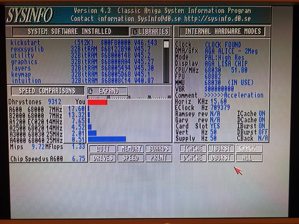 Blizzard 1230 MkIV Speed Test