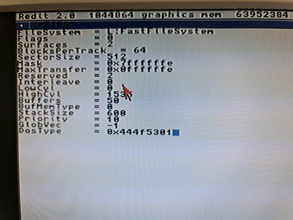 Zip Drive Amiga Mountlist