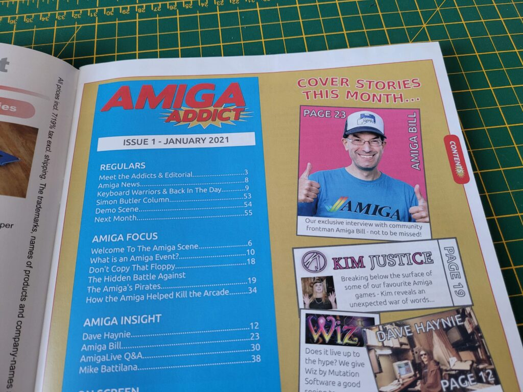 Amiga Addict Contents Page