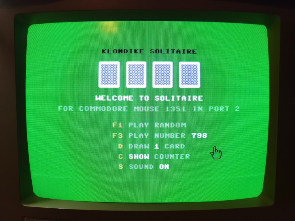 C64 BASIC Solitaire