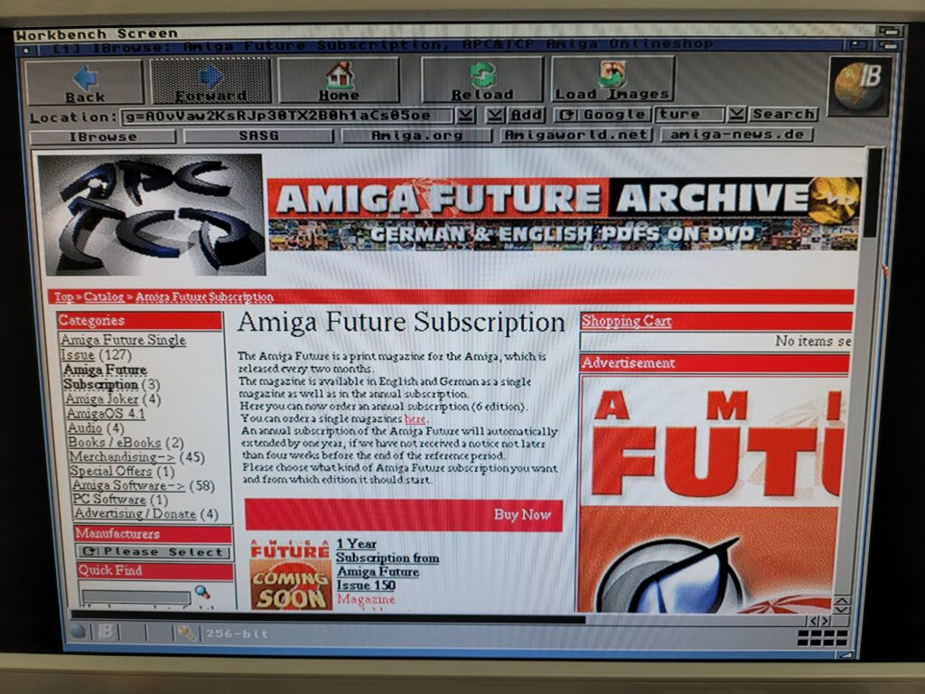 Amiga Web Browser