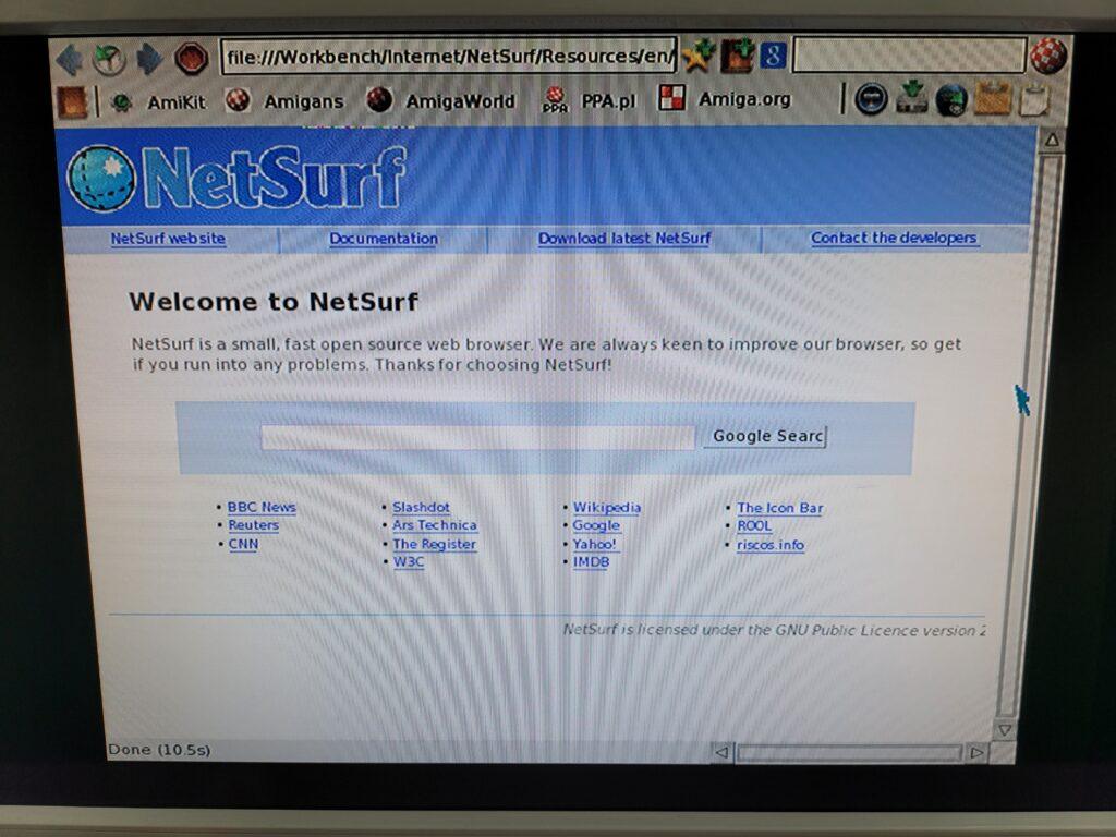 Amiga NetSurf