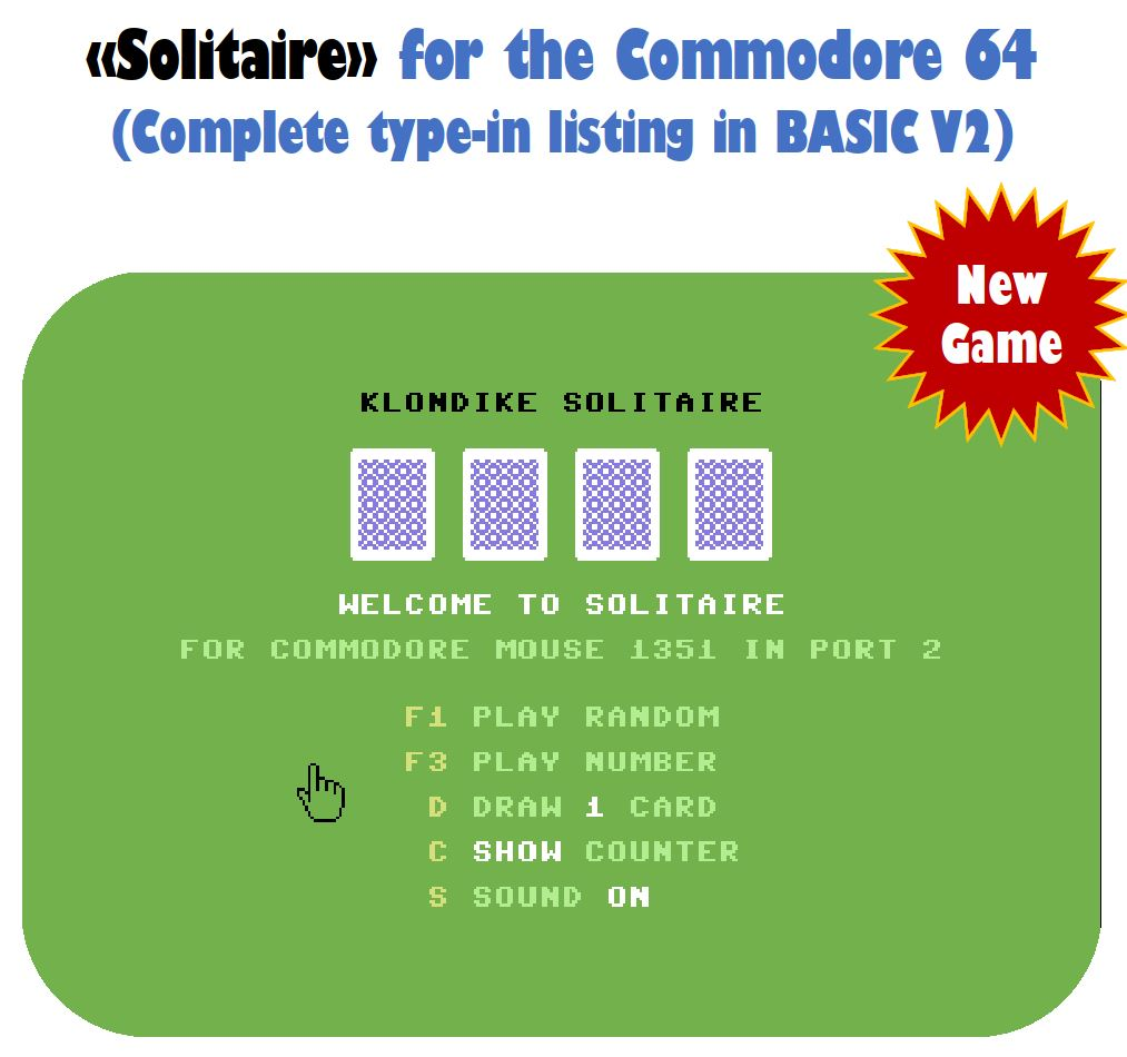 C64 Type-In BASIC Listing