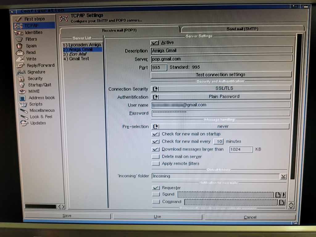 Amiga email