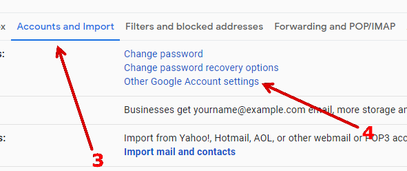 How to enable 'Less secure apps' in Gmail.