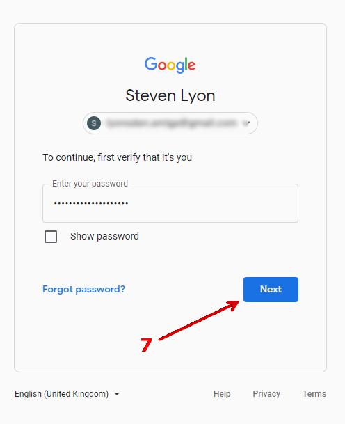 How to create an 'app password' in Gmail.