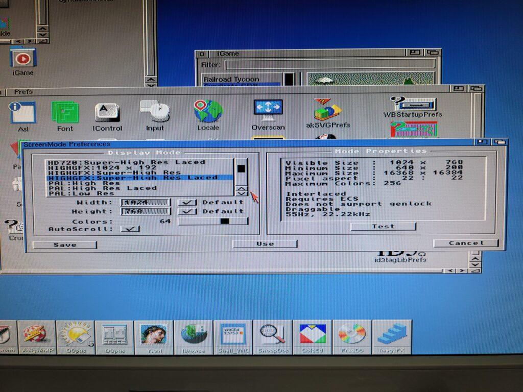 Amiga screenmode preferences